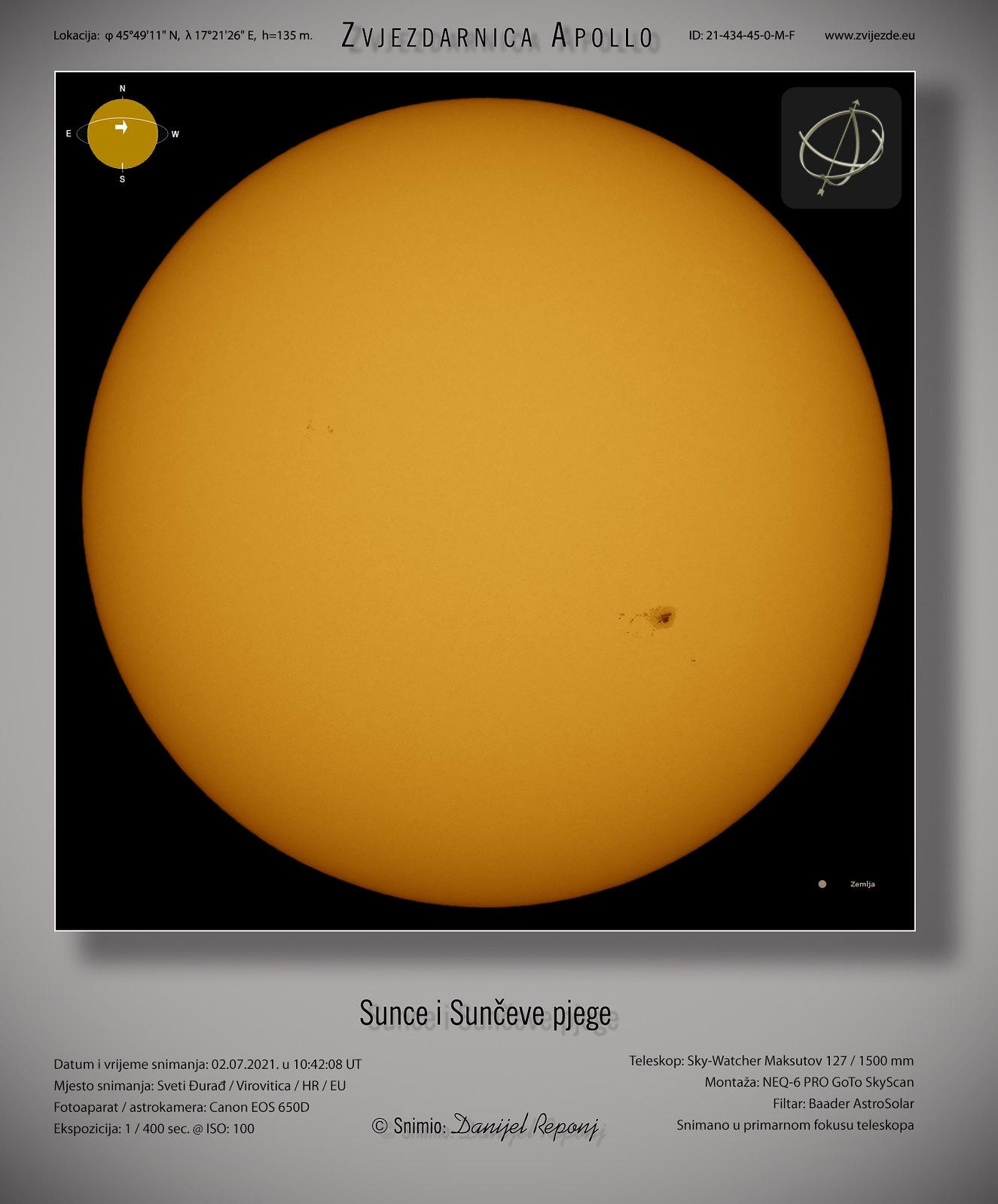 Sunce i pjege, 2.7.2021.