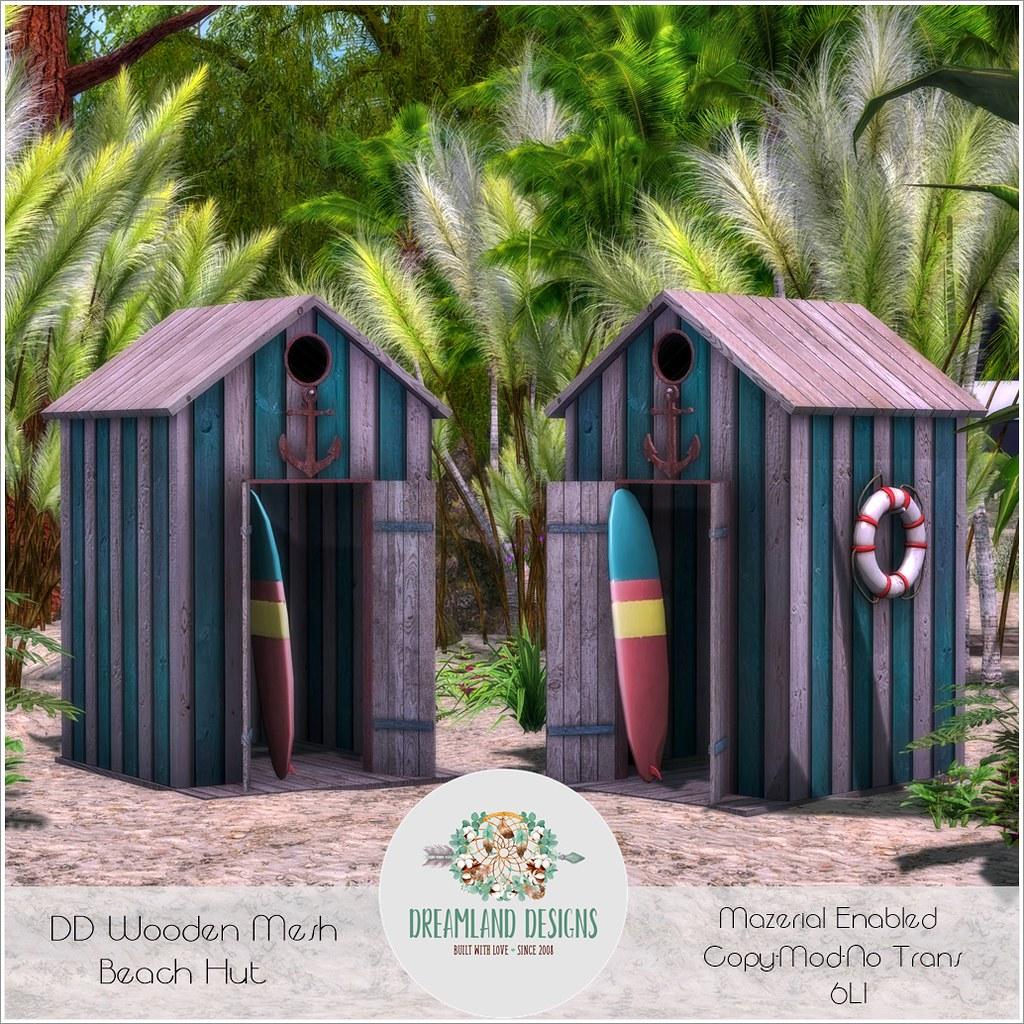 DD Wooden Mesh Beach Hut AD