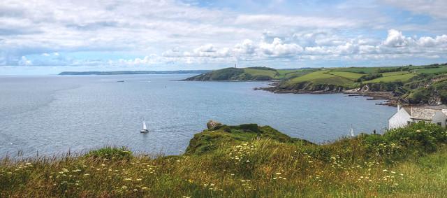 The Cornish coast at Polruan