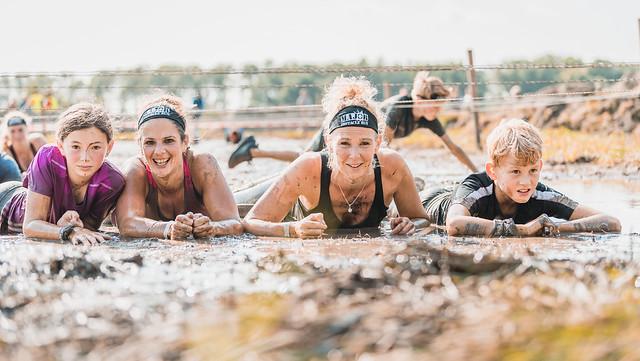 Posing in the mud.