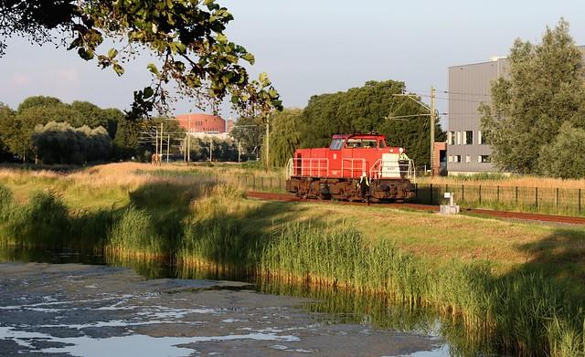 Bediening stamlijn Alphen a/d Rijn / freight train on branch line