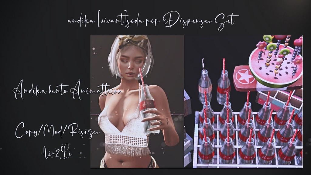 andika[vivant]soda pop Dispenser Set For Anthem