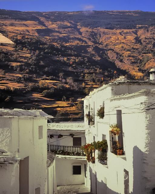 Across the valley, Lanjarón, Alpujarra, Andalusia, Spain.
