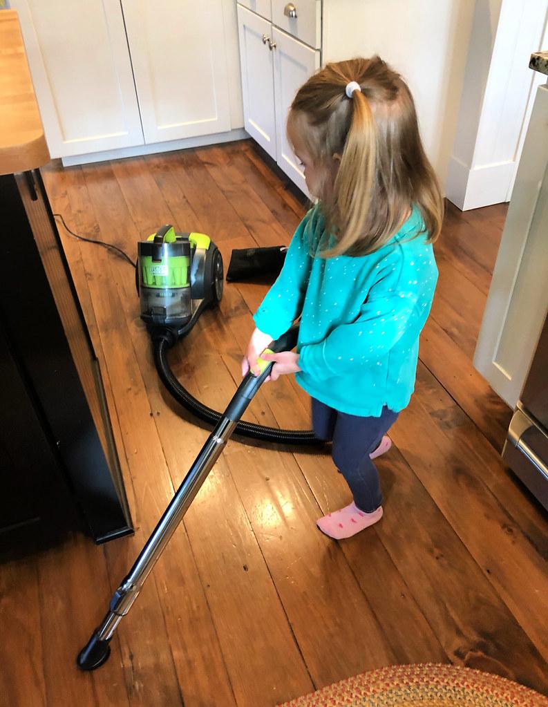 clara vacuuming