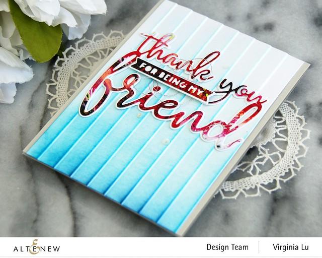 Altenew-Window Slats 3D Embossing Folder-Thank You for Being My Friend Die Set-Rainbow Blots Paper Pad-001