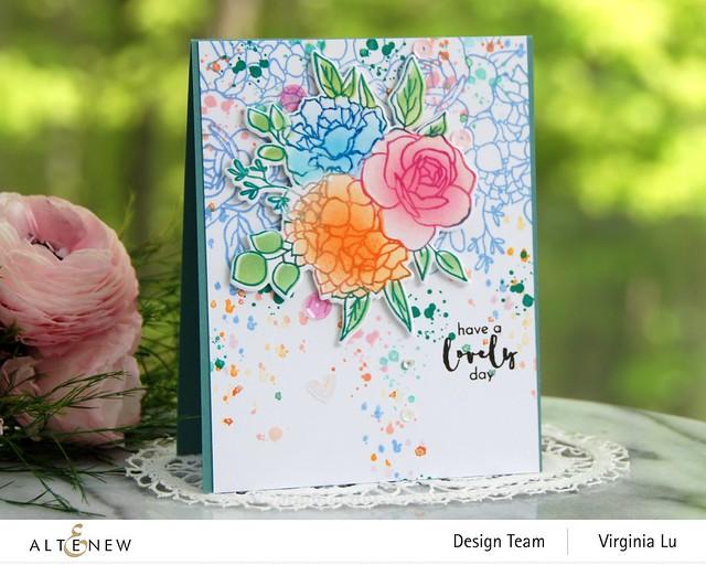 07042021-Altenew-InkyBouquet Stamp & Die Bundle-Inky Bouquet Simple Coloring Stencil