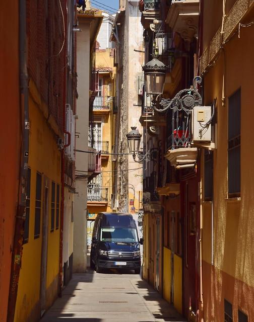 Narrow streets of Valencia