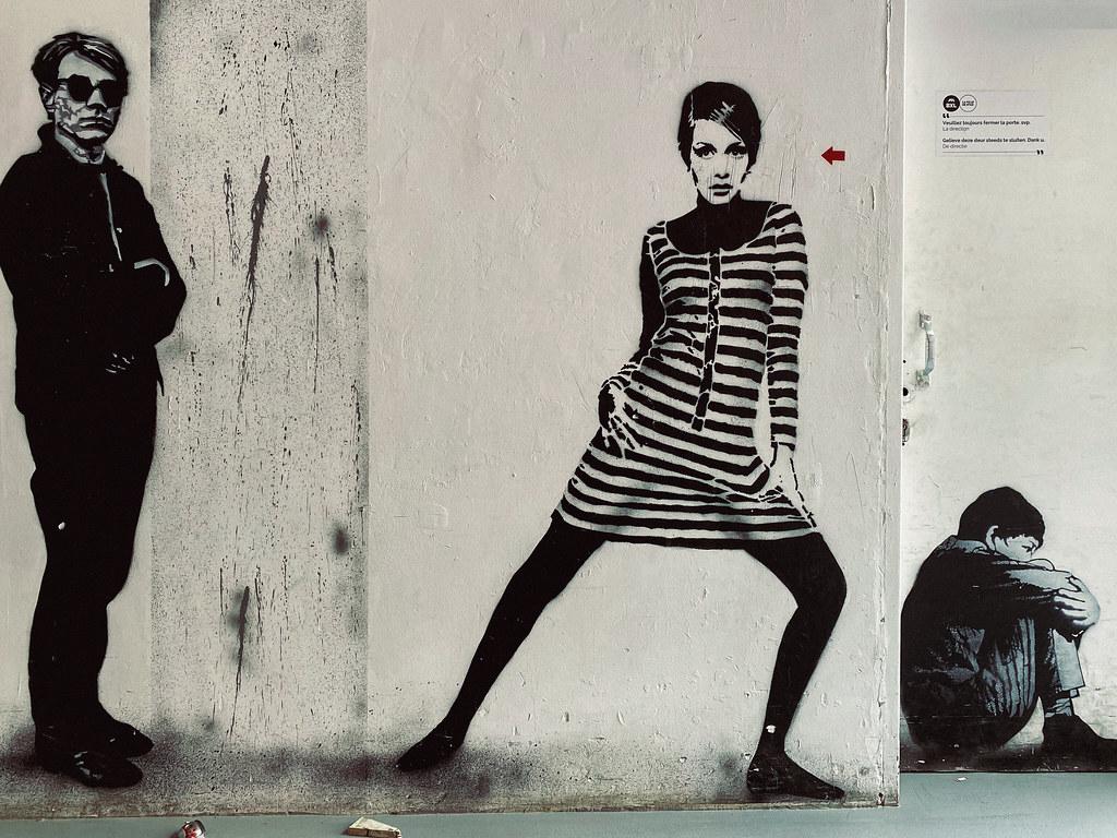Warhol, Twiggy and Kid by Jef Aérosol