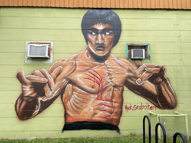 51287683278 1d97b1dd51 z Bruce Lee Mural Railroad Square Tallahassee FL