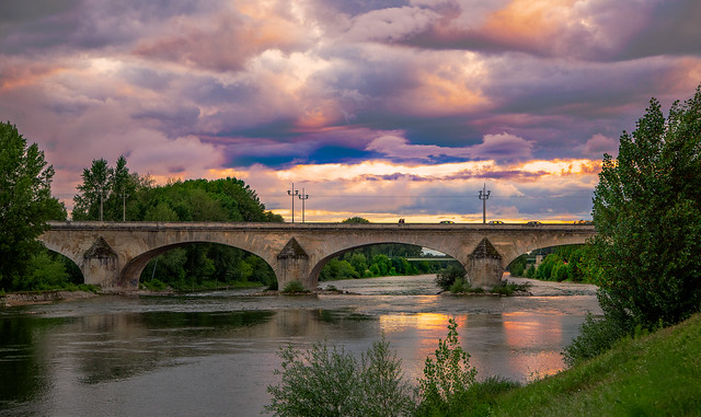 le pont Georges V  d'Orléans