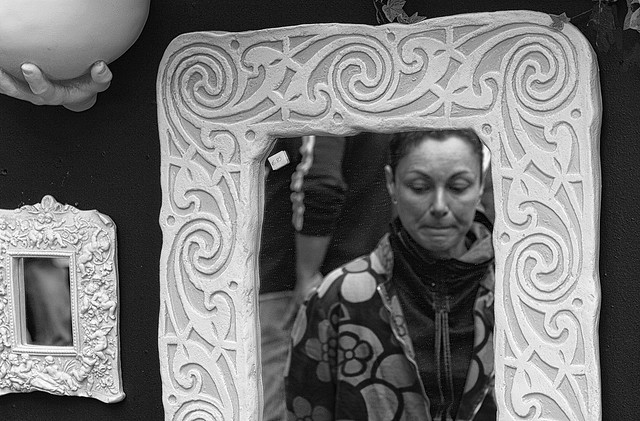 The lady in the mirror