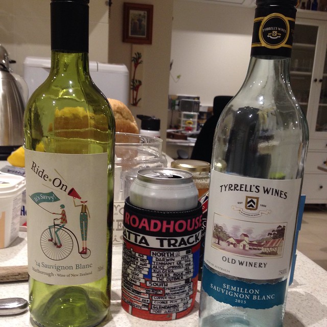 couple of wines with G and S on a visit