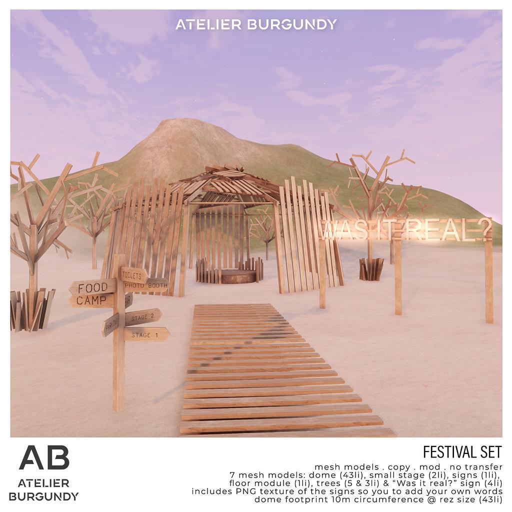 Atelier Burgundy . Festival Set