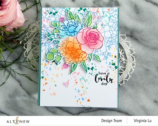 07042021-Altenew-InkyBouquet Stamp & Die Bundle-Inky Bouquet Simple Coloring Stencil -002