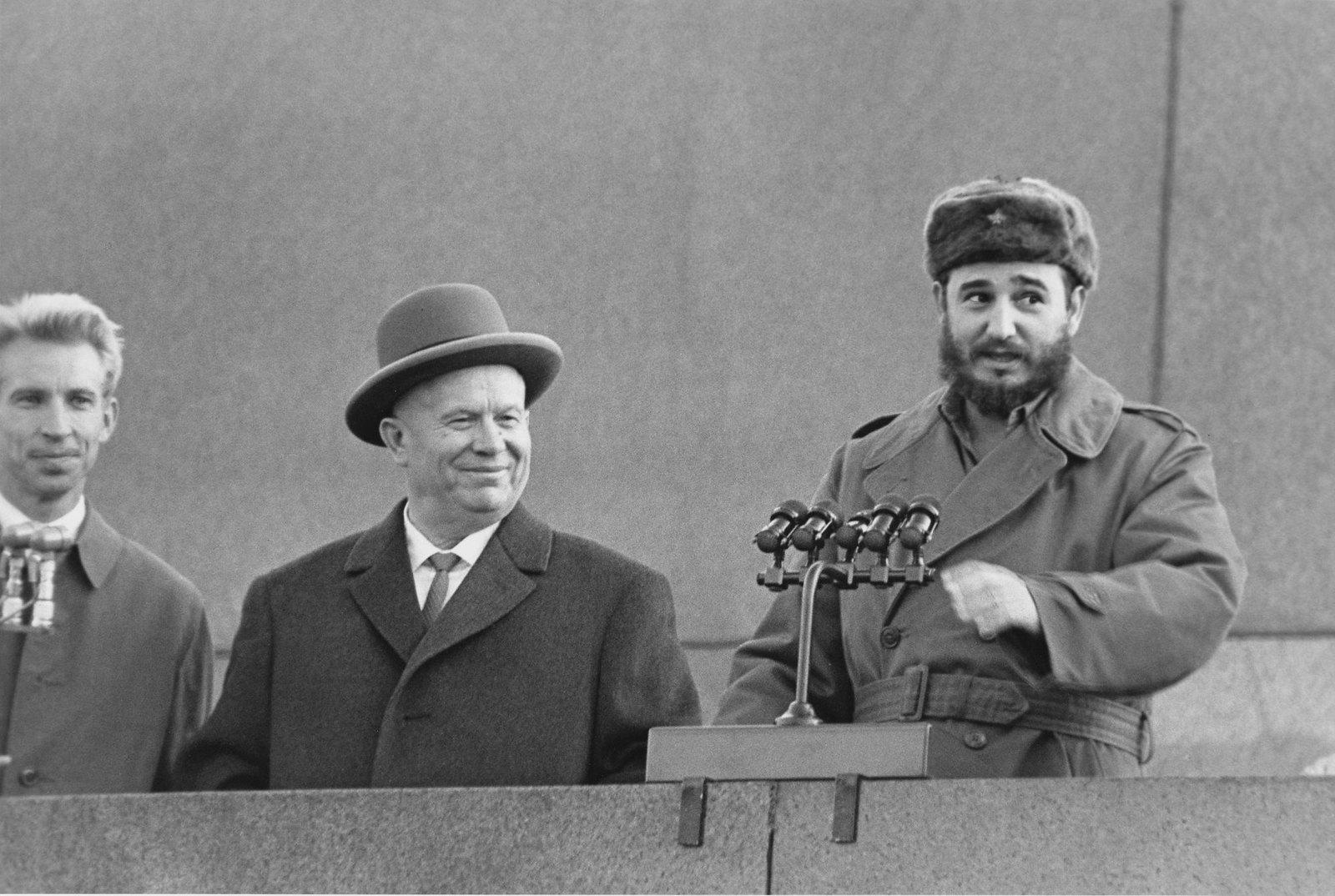 1963.  Визит Фиделя Кастро в СССР. Митинг на Красной площади