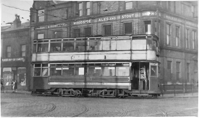 Salford tram No. 338 ex 109 @ The Ship Hotel in 1947