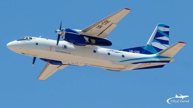 TLV - ** Rare ** Vulkan Air Antonov 26 UR-CQE