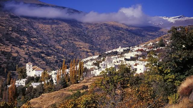 Mountainside towns - Bubión and Capileira, Alpujarra, Andalusia, Spain ..