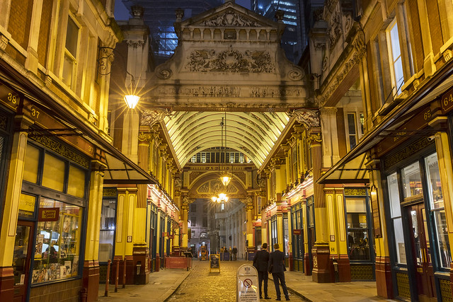 London Leadenhall Market Night View