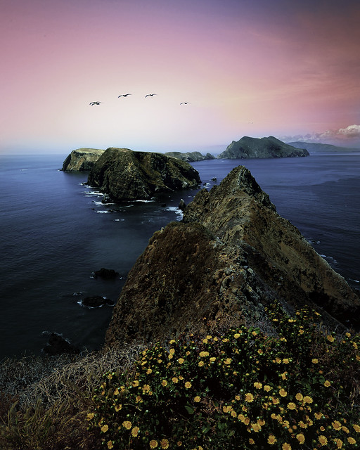 Formation over Anacapa Island