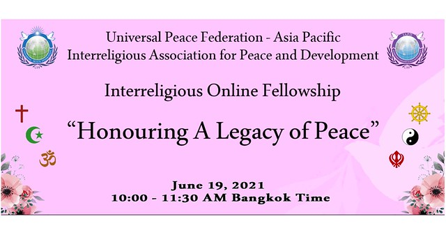 Philippines-2021-06-19-Asia-Pacific Interreligious Online Fellowship Honors a 'Legacy of Peace'