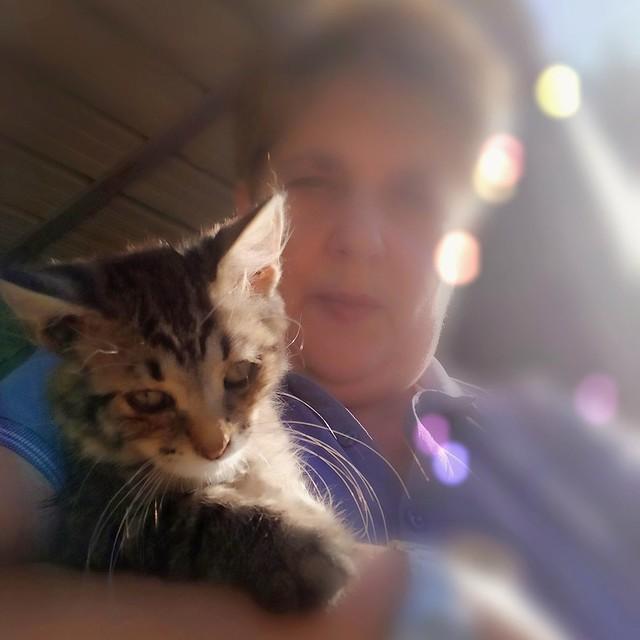 Selfie with cat!