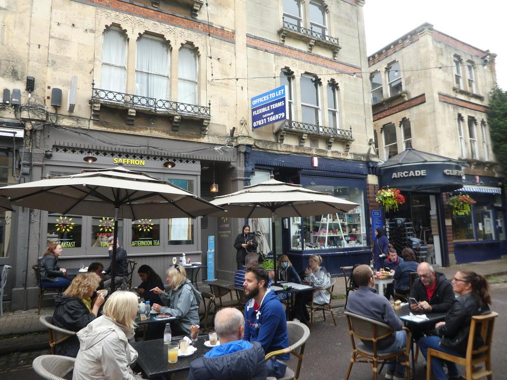 Pavement cafes, Clifton Village, Bristol