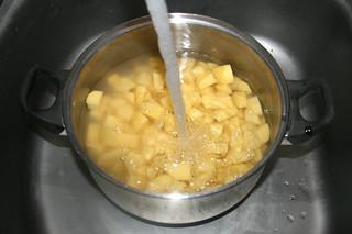 28 - Cover potatoes with water / Kartoffeln in Topf mit Wasser bedecken