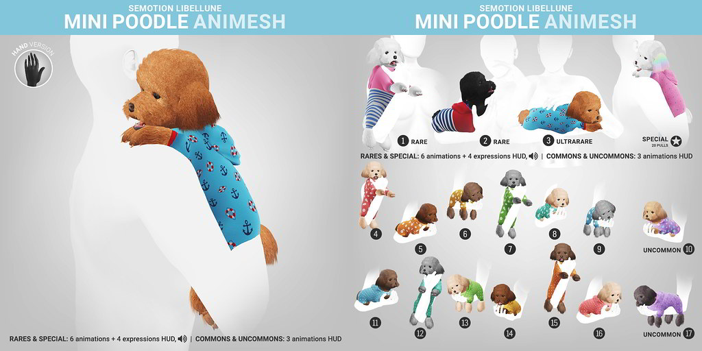 SEmotion Libellune Mini Poodle Animesh