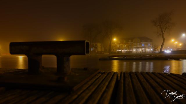 mistige avond aan het Donkmeer Berlare