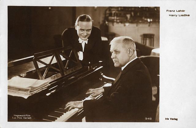 Harry Liedtke and Franz Lehár in  Das Fürstenkind (1927)