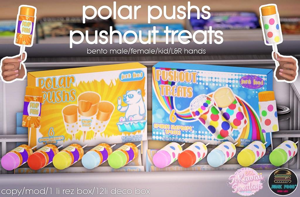 Junk Food Polar Pushs & Pushout Treats @ Mainstore! #SoKawaiiSundays