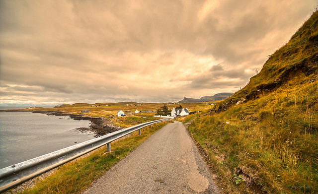 Kilmaluag Bay and Kilmaluag, Skye, Scotland.