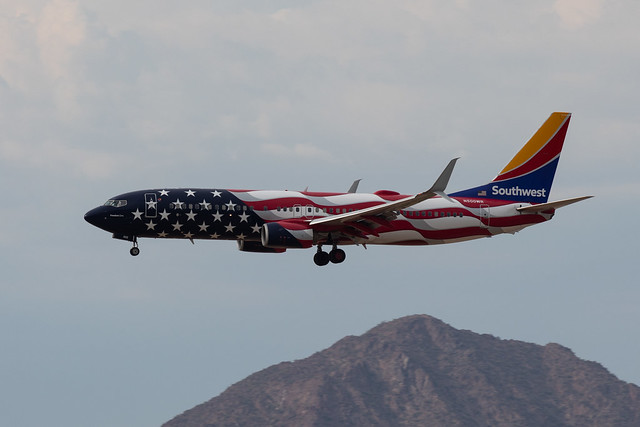 Southwest Airlines Boeing 737 N500WR -Freedom One--2947