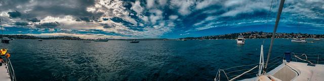 Sydney Harbour - Summer 2021 iPhone panorama