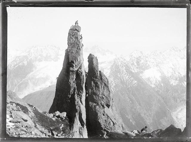 Escalade / Rock climbing, Aiguillette d'Argentière, 1903