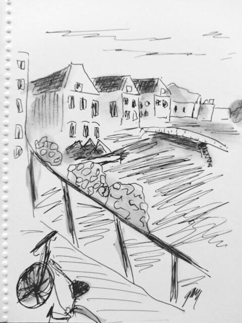 Leiden sketch of harbor sm