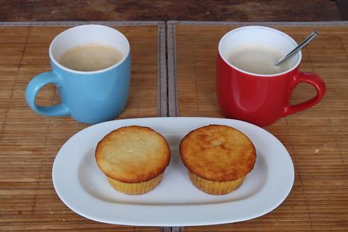 Zitronenmuffins zum Feierabendkaffee