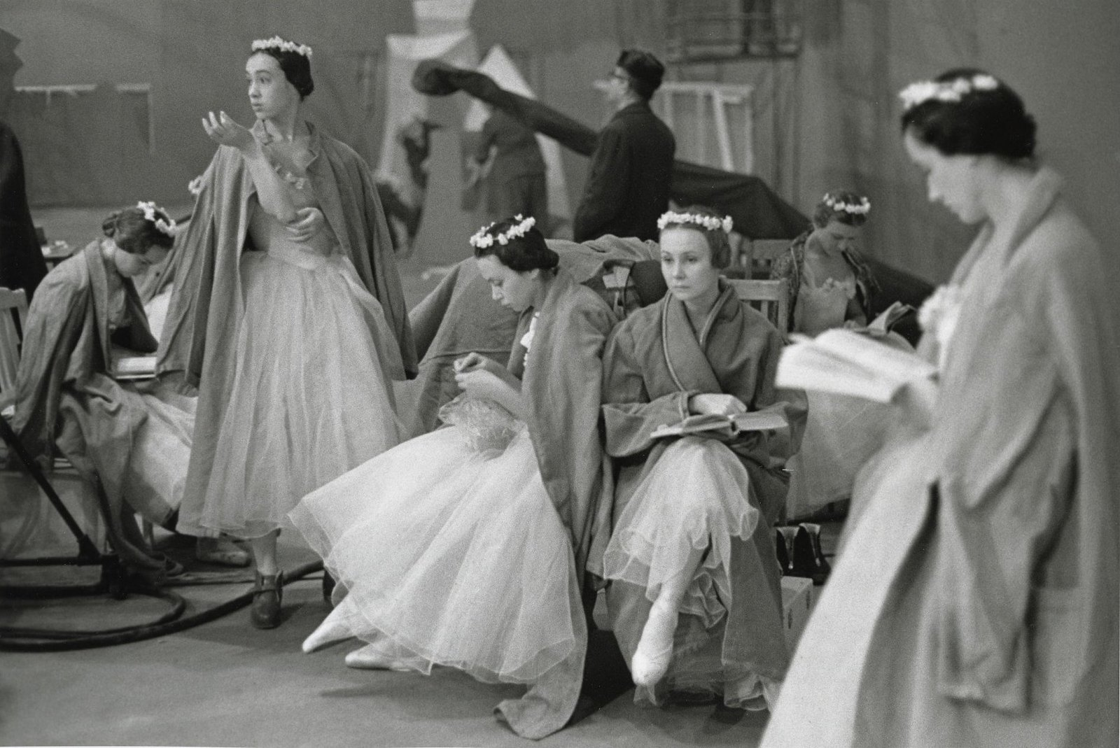 1960-е.  На съемках фильма-концерта «Сильфиды»