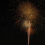 Fireworks in Reds and Oranges