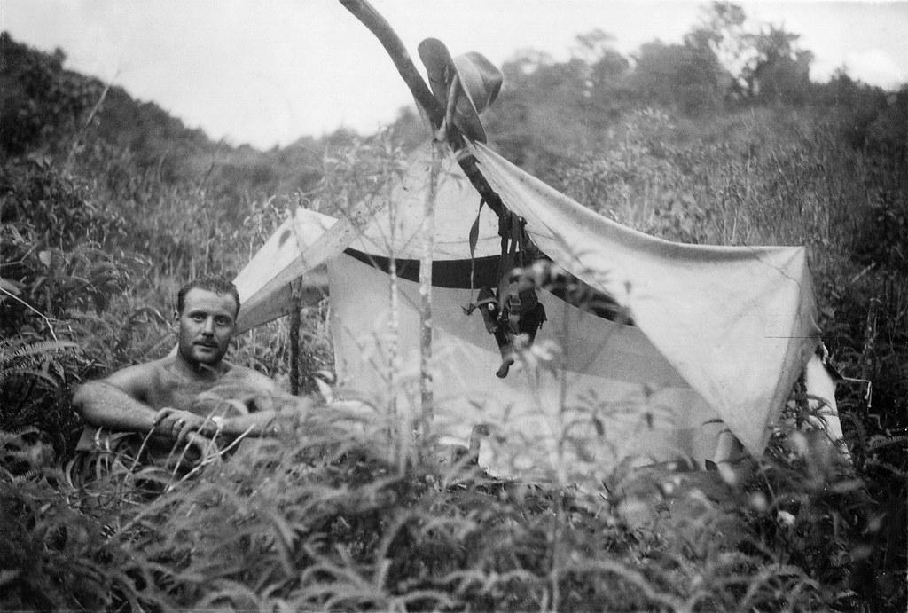 (Explored) Camping during training in Sri Lanka, 1942