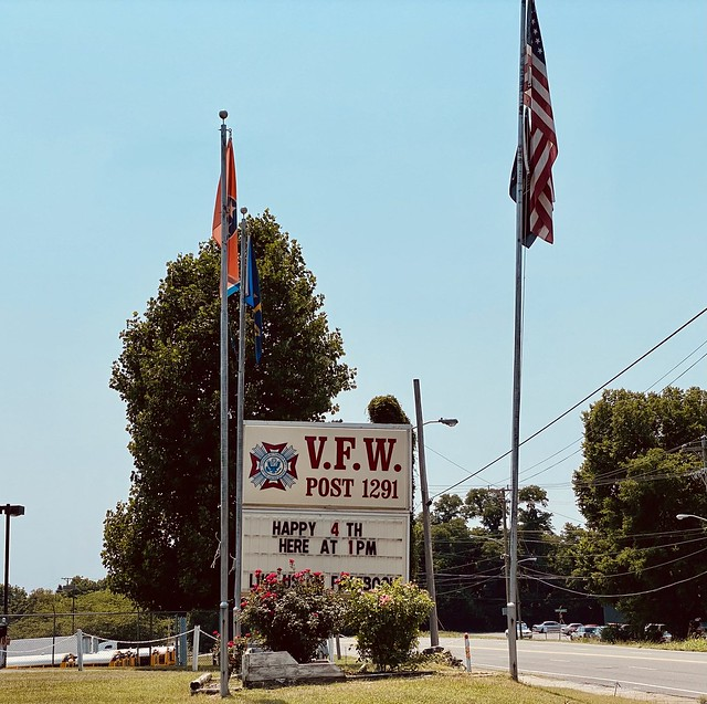 Have a safe and happy Fourth of July! 🇺🇸              VFW post 1291 in Nashville Tennessee. #philliprigginsphotography #Philfeedback #vfw #vfwpost1291 #travelgram #travel #athensofthesouth#musiccity #itravel #nashville #tennessee #tennesseephotography #