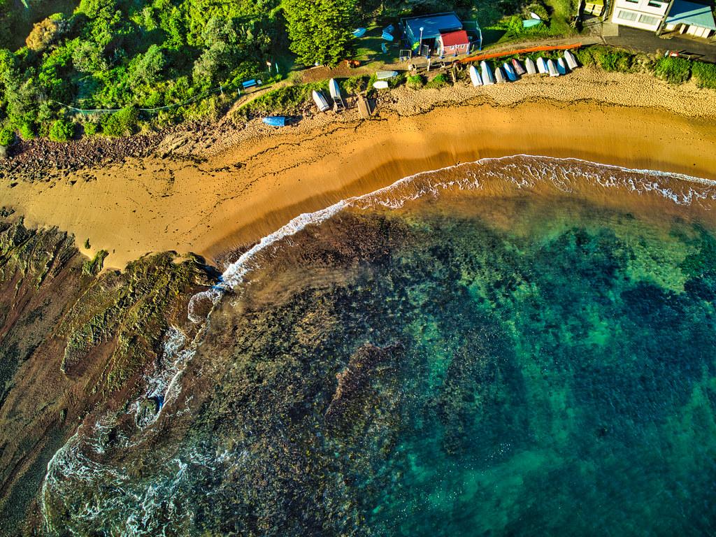 Aerial view of Fishermen's beach