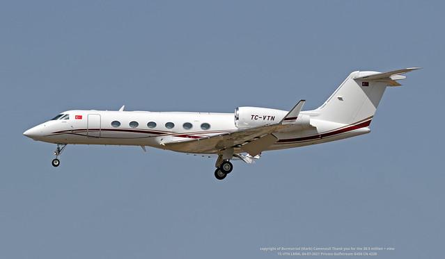 TC-VTN LMML 04-07-2021 Private Gulfstream G450 CN 4239