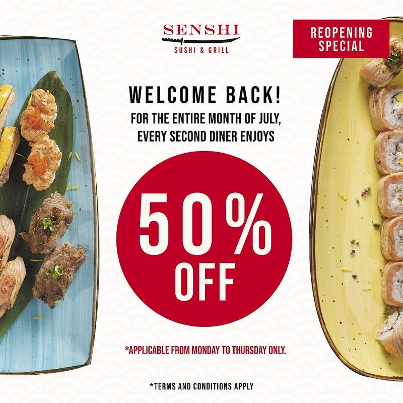 Senshi 50% Promotion Poster