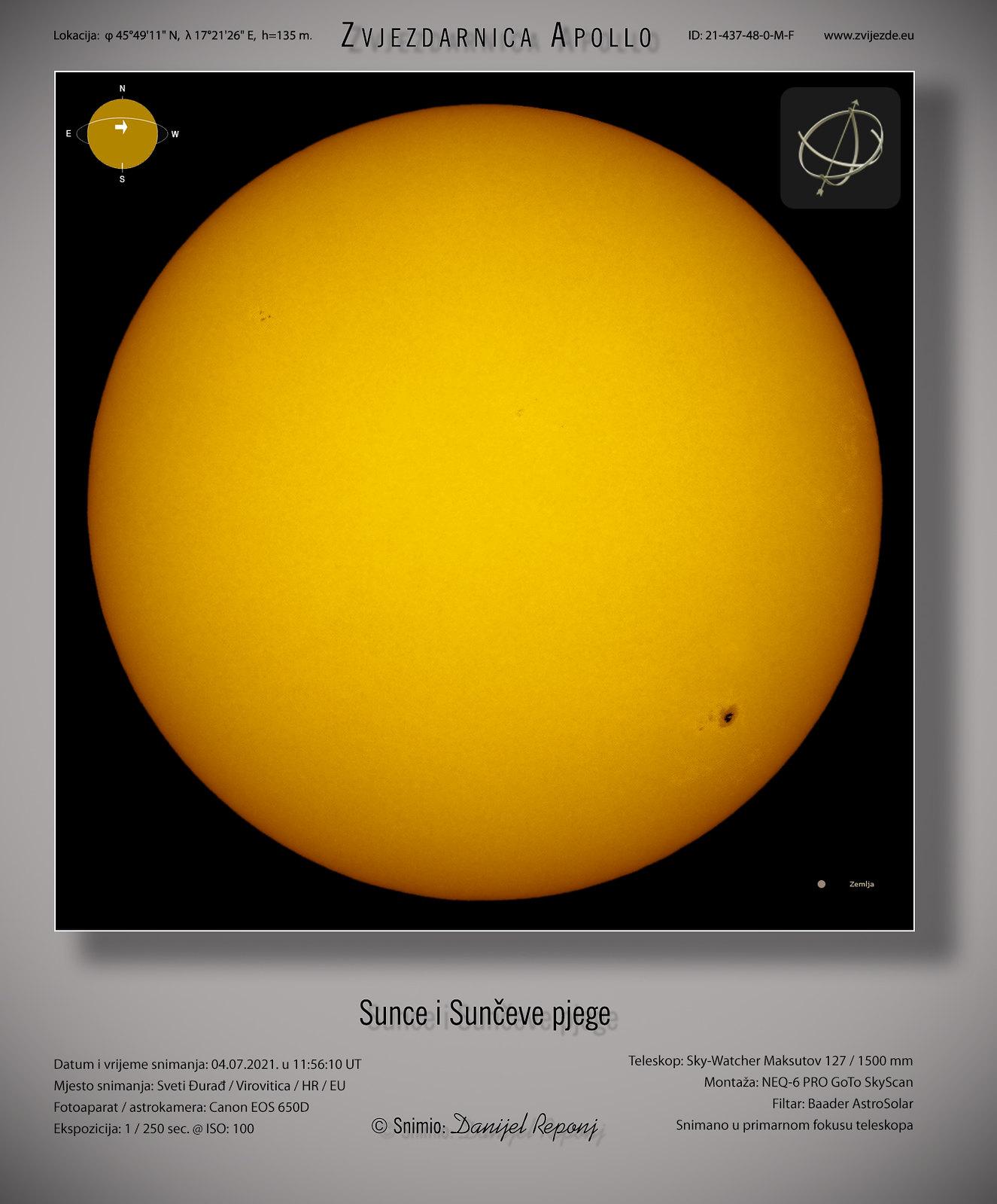 Sunce i pjege, 4.7.2021.