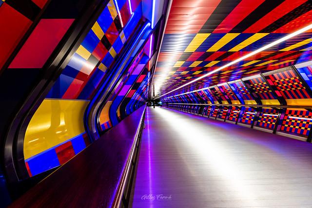Camille Walala Tunnel, Canary Wharf, London