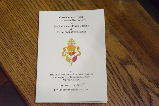 Ordination to the Permanent Diaconate - Jim Brannan, Peter Crosby, Krzysztof Wasilewski