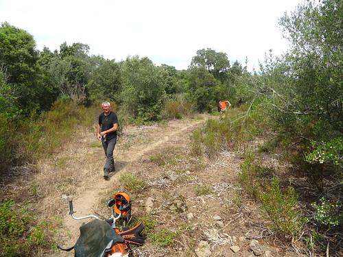 Sur le tronçon A Sarra - parc moto-cross : fin des travaux juste avant le parc de morto-cross