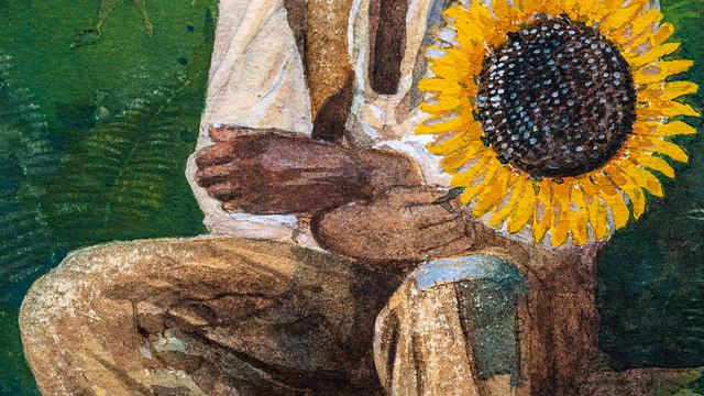 Winslow Homer, Taking a Sunflower to Teacher